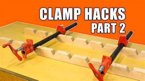 quick clamp hacks  woodworking tips  trick youtube