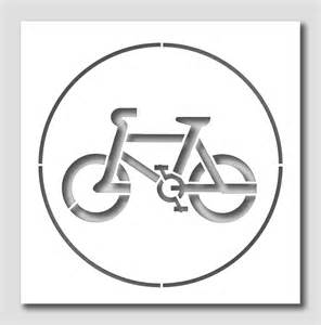 Printable Bicycle Stencil