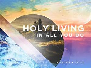 Church Bulletin Design Inspiration Holy Living Sermon Graphic Design