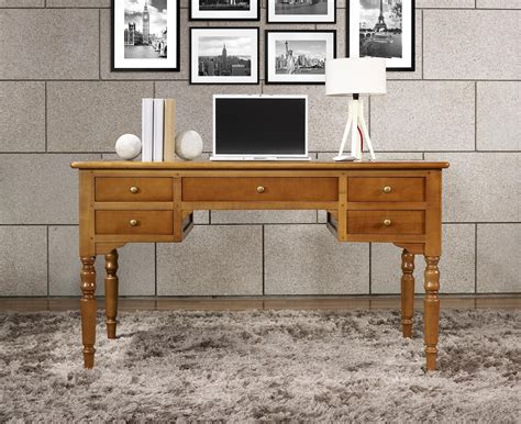 bureau merisier louis philippe bureau ministre 5 tiroirs en merisier massif de style louis philippe meuble en merisier massif