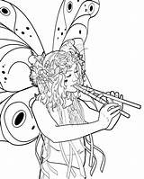 Twig Pages Colouring Coloring Fairy Fairies Template sketch template