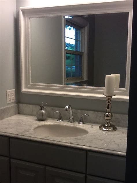 Kraftmaid Bathroom Vanity Mirrors by The Quot After Quot Vanity Top Is Marble From Home Depot