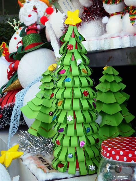 paper craft christmas tree  stock photo public