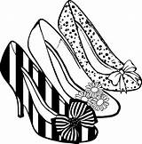 Heel Coloring Shoes Clipart sketch template