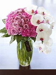 Rose and Orchid Flower Arrangements