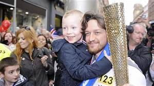 Olympic torch: James McAvoy runs relay leg as flame ...