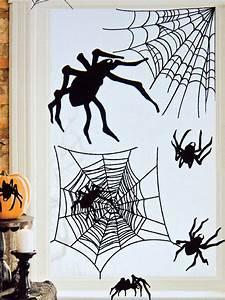 Party Deko 24 : spinnen aufkleber halloween party deko set 24 teilig schwarz 24 7x69 8cm g nstige faschings ~ Orissabook.com Haus und Dekorationen