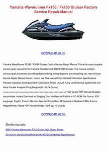 Yamaha Waverunner Fx160 Fx160 Cruiser Factory By Moniqueneeley