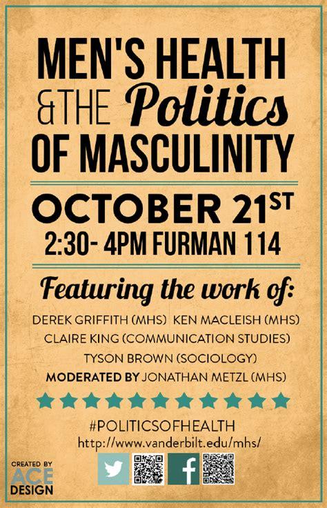 panel mens health politics masculinity medicine health