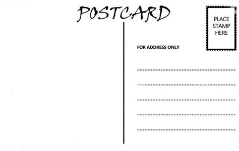 Free Blank Postcard Template For Word by Postcard Template Invitation Template