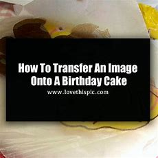 How To Transfer An Image Onto A Birthday Cake