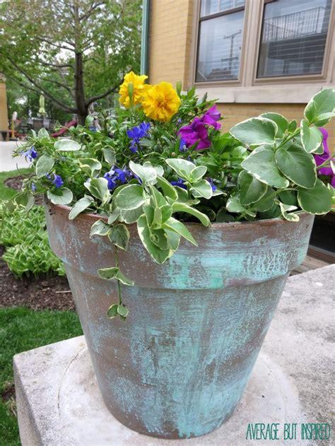 Copper Outdoor Planters by Best 25 Copper Planters Ideas On Mini Plants