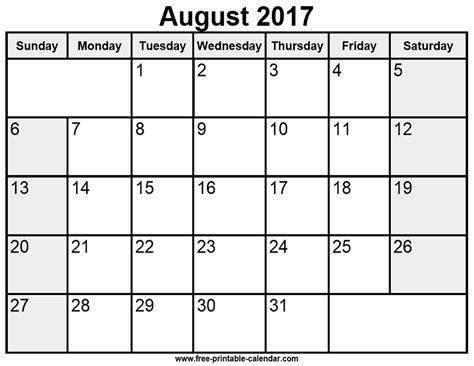 free printable 2017 calendar august 2017 calendar template calendar 2017 printable free