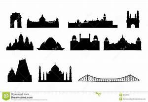 India Famous Landmarks Vector Stock Photo - Image: 8812010