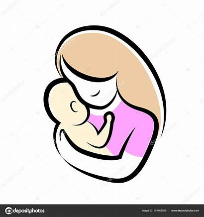 Mother Symbol Mom Icon Child Mamma Stilizzato