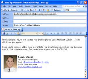 Business Email Signature Example
