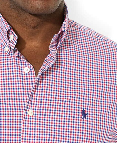 lyst polo ralph lauren shirt  slim fit red gingham