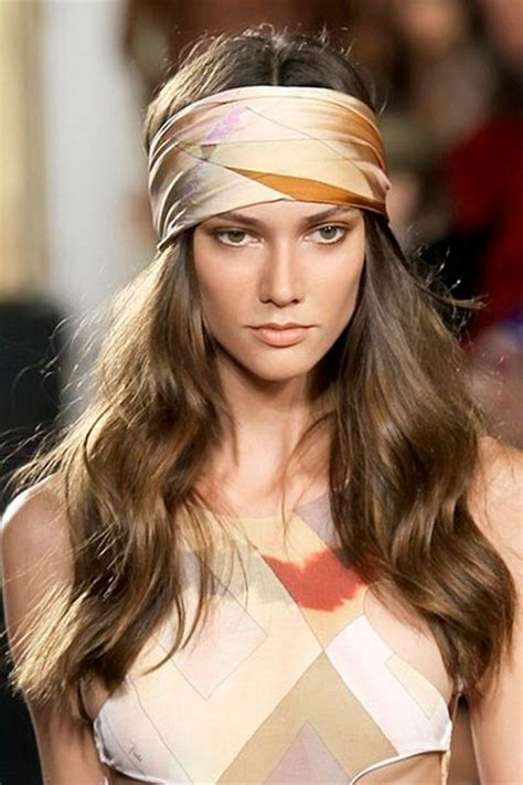 70s Hippie Hairstyles by 70s Hairstyles With Scarves