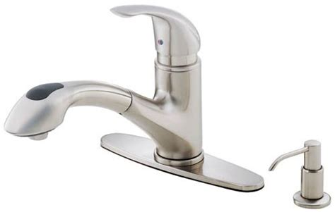 danze single handle pull out kitchen faucet