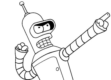 Bende Kleurplaat by Bender Futurama Coloring Pages Coloring Pages