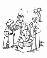 Jesus Coloring Wise Three Pages Christmas Nativity Manger Kings Magi Getcolorings sketch template