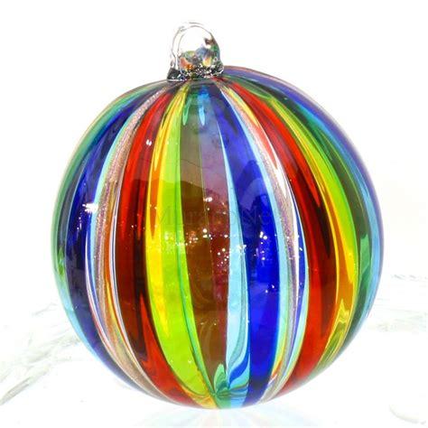 rainbow christmas ball  murano glass muranonet