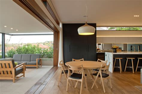 kitchen stools sydney furniture contemporary corner site house overlooking middle harbour