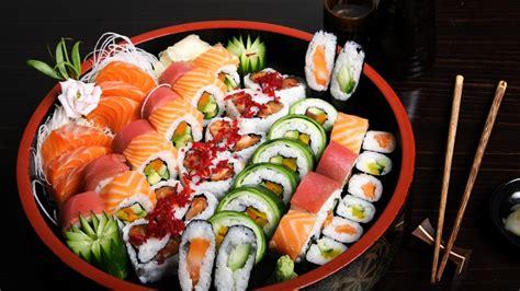 full hd wallpaper sushi composition set sticks desktop