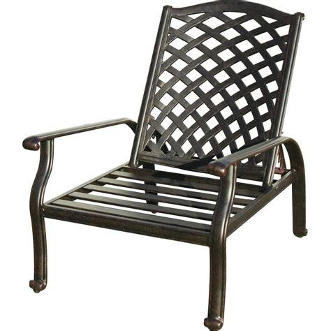 darlee nassau cast aluminum patio reclining club chair