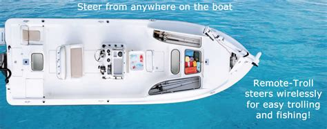 remote troll installation executive boat  yacht