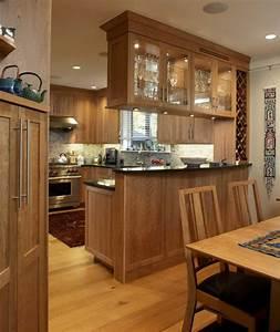 la cuisine ouverte sur la salle a manger 55 photos With table salle a manger rustique pour petite cuisine Équipée