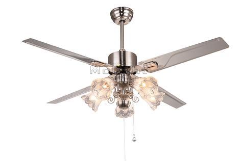 modern ceiling fans with 5 light kits for restaurant