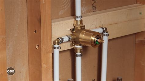 Shower Plumbing by How To Install Copper To Pex Shower And Bath Plumbing