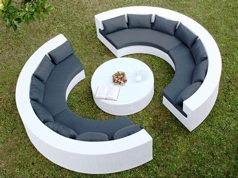 canapé demi cercle atollo set de jardin pour extérieur avec deux canapés à