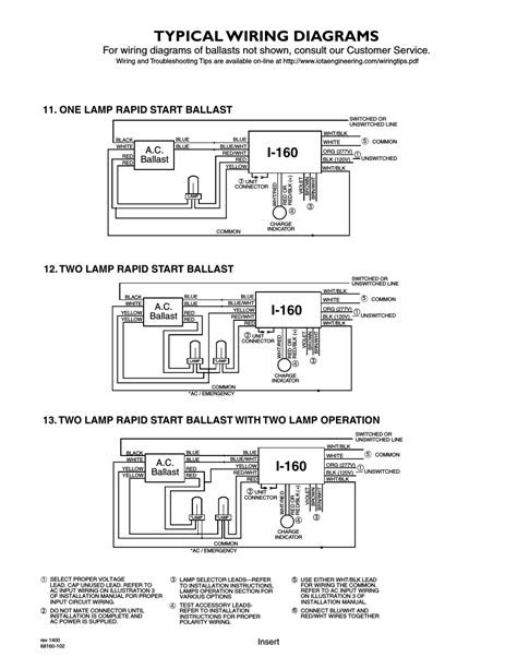 Typical Wiring Diagrams Ballast Iota