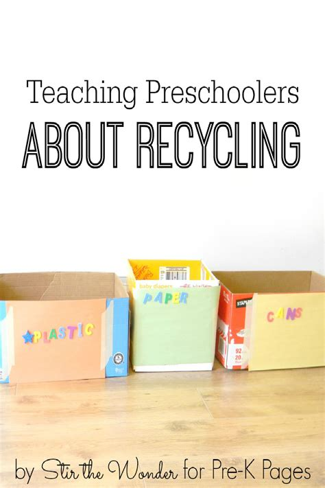 recycling lesson plans for preschool talking about recycling with preschoolers pre k pages 584