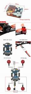 Kingkong 90gt 90mm Sans Balai Mini Fpv Racing Dr U00f4ne Avec Micro F3 Contr U00f4leur De Vol 16ch 800tvl