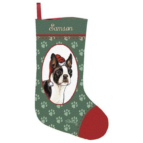 personalized boston terrier stocking