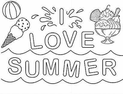 Coloring Easy Printable Summertime Sheets Sheet Hello