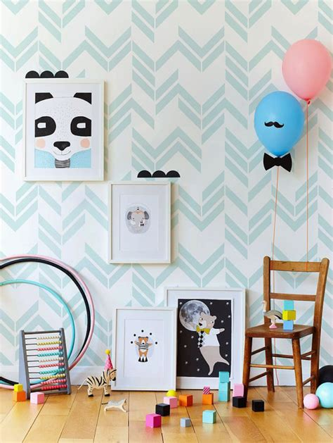 papier peint chambre enfants stickers chambre bébé idées inspirations tendances
