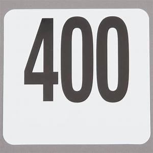 American Metalcraft 4400 Plastic Table Number Set ...