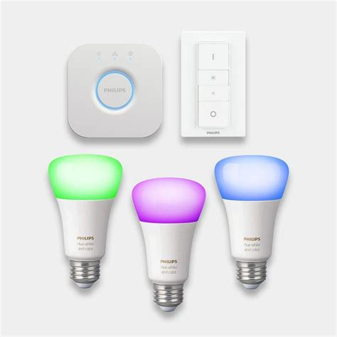 philips hue colour changing bulbs starter kit eb