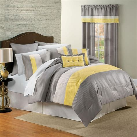 Gray And Yellow Bedroom Ideas by Yellow White Grey And Black Bedding I This Color