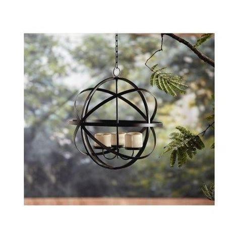 patio candle sphere chandelier outdoors garden gazebo