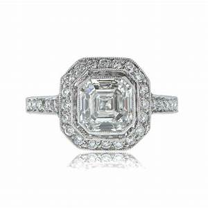 asscher cut diamond engagement ring With asscher cut diamond wedding rings
