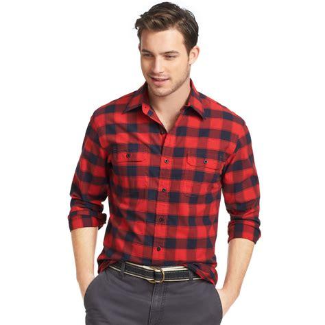 plaid slim fit sleeve shirt lyst izod shirt ski club longsleeve lumberjack plaid