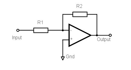 Amp Inverting Amplifier Operational Circuit