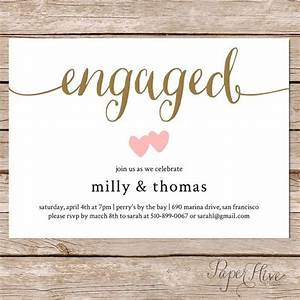 the 25 best engagement party invitations ideas on With diy wedding invitations vs professional