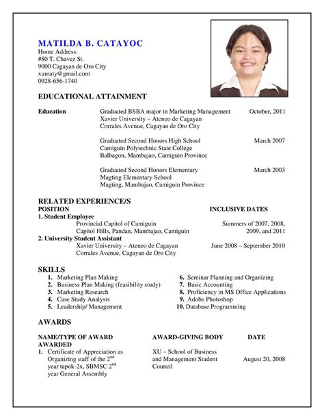 My Resume by As I Make It My Resume
