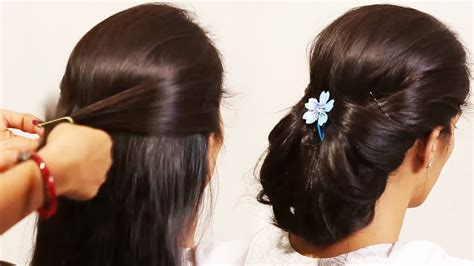 simple hairstyle beautiful hair style poof tutorials 2019 youtube